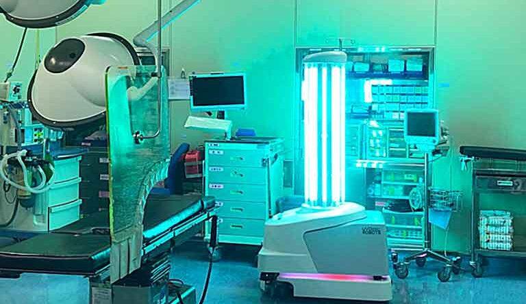 تصویری از ربات ضدعفونی کننده+پزشکی